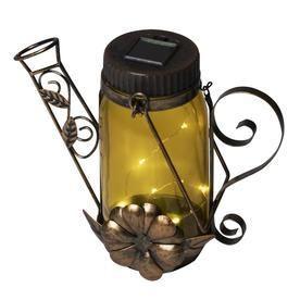 Portfolio 9 06 in x 7 09 in Tinted Glass Glass Solar Outdoor Decorative lantern