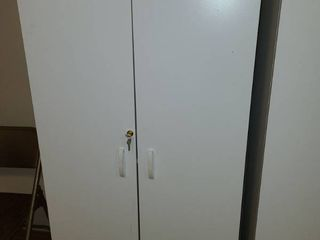 White locking Cabinet 60 x 29 x 16 in