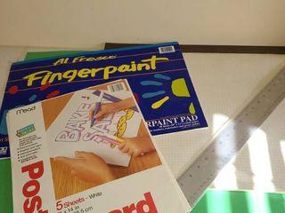 Poster board fingerpaint paper and ruler