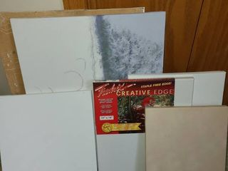 Assorted canvases