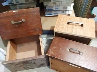 Assorted Wood Drawers lot of 4