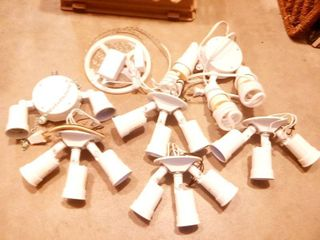 Hardwired Outdoor Security lights Triple Bulb