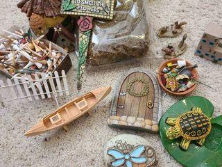 Assorted fairy garden decor