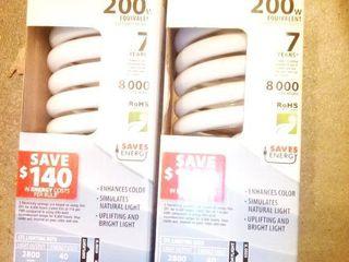 Feit Ecobulb 200 Watt Equivalent lightbulbs New in Package lot of 2