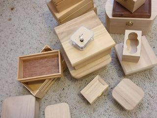 Assorted wood boxes