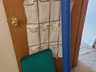 Yoga mat  shoe organizer and swim noodle