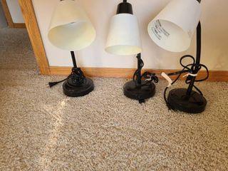 3 Black Desk lamps