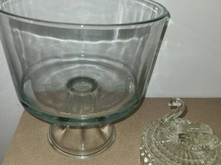Candy Dish with lid and Fruit or Salad Bowl