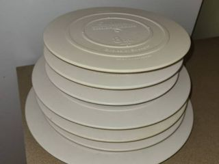 WIlTON Smooth Edged Plates  For making cakes  3  8  3 10  and 1  12