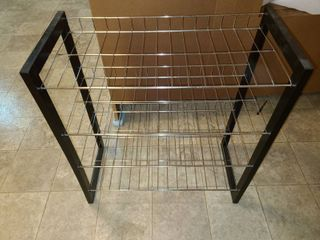 Wood and Wire Shelves 27 x 25 x 12 in