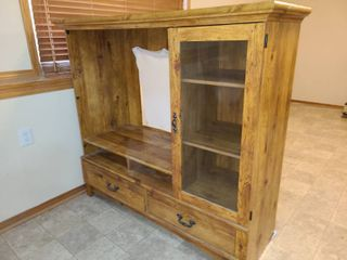 Wood Entertainment Center 55 x 60 x 21 in