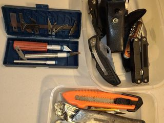 Razor Blade Knives  and other multi tools