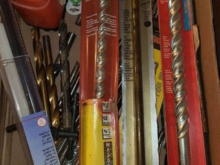 Assorted large drill bits