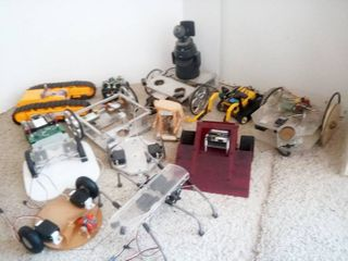Various Robotics Items Unfinished Robots