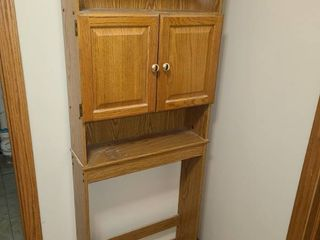 Wood Over the Toilet Shelf 65 x 24 x 8 in
