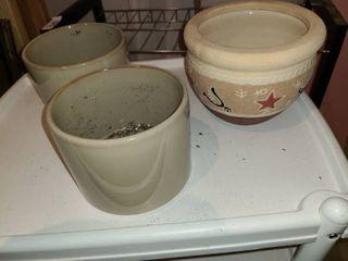 3 Ceramic Planter Pots