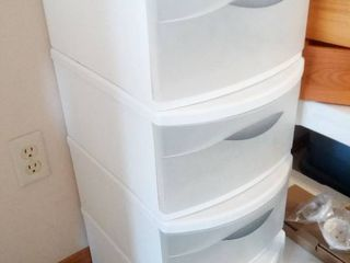 Sterilite Stackable Drawer Storage lot of 4