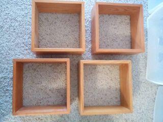 Wood Floating Shelves 8 x 8 x 4 in each