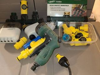 Assortment of hose accessories and timers