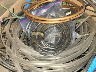 large assortment of tubing and hoses
