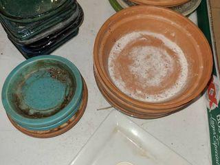 Terra Cotta and Ceramic Plant Saucers