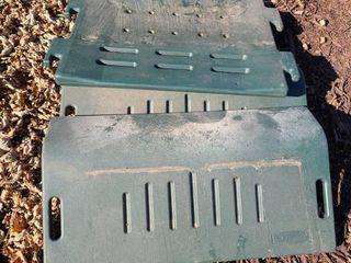 Rubbermaid parts for a storageIJIJIJ floor is approximately 3ft  x 26  Has floor and 2 doors