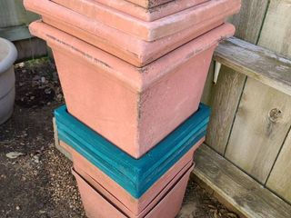 13 pcx  SQUARE PlANTERS 12 X 13 IS THE BOTTOM SIZED