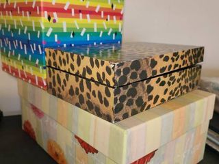 Decorative Boxes  3 Total  1 missing lid