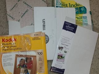 Card Stock and Photo paper