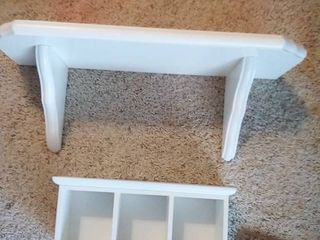 White Floating Wall Shelves 24 x 8 x 9 in and 6 5 x 14 x 4 5 in