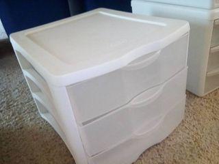 Sterilite Desktop 3 Drawer Bin Storage
