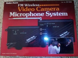 Radio Shack Video Camera Microphone System