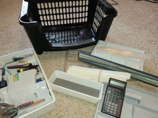 Desk Organizers and Contents