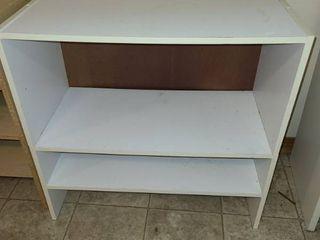 White Wood Bookshelf 23 x 24 x 12 in