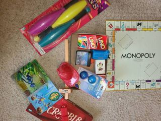 Toys SCRABBlE  UNO  Playing Cards  Monopoly Board and other miscellaneous toys