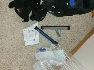 Medical leg Splint  Back Brace  and Stocking Donner
