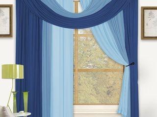 Bella Four Pc Window in a Bag   Blue
