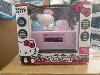 Sleeping Hello Kitty Alarm Clock Radio with Night light