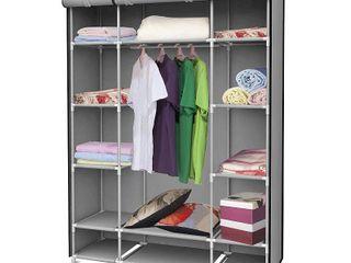 Sunbeam Storage Closet with Shelving  Grey