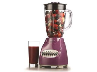 Brentwood    JB 220PR  12 Speed Blender Plastic Jar   350 W   Purple