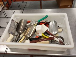Bus tub and kitchen utensils