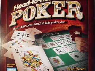 Parker Brothers Head to Head Poker Game 6 Games in 1 Best Card Hand Duel