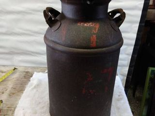 vintage milk can with lid