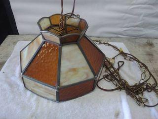 Vintage Hanging Glass light Fixture