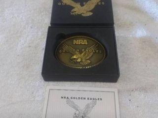NRA Golden Eagles Belt Buckle