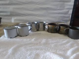 lot of Vintage Tin Cups