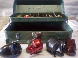 Vintage Tackle Box and Tack