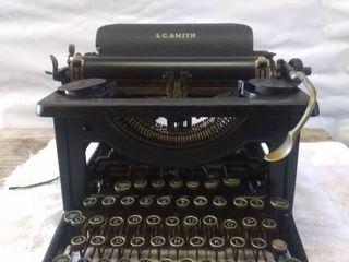 Vintage l C Smith Type Writer