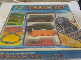 Vintage Battery Operated Train Set