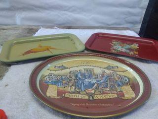 lot of Vintage Serving Trays